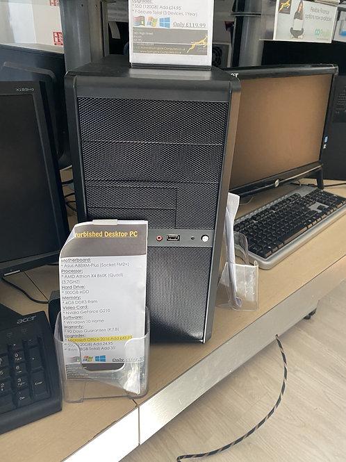Refurbished Desktop PC Unbranded AMD x4 860K PC