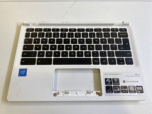 Acer Chromebook 11 CB3-111 Laptop Palmrest With Keyboard (White)