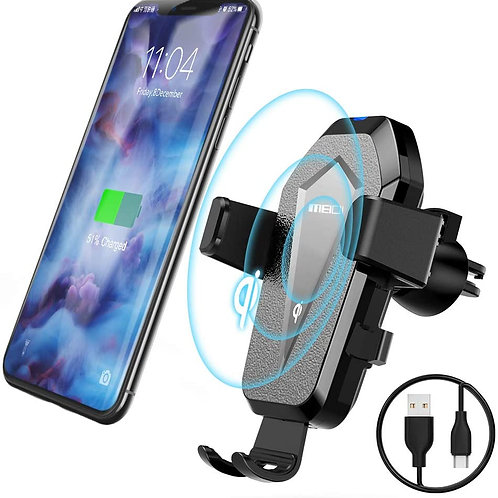 Wireless Car Charger Phone Mount, Qi Fast Charger Air Vent Car Phone Holder