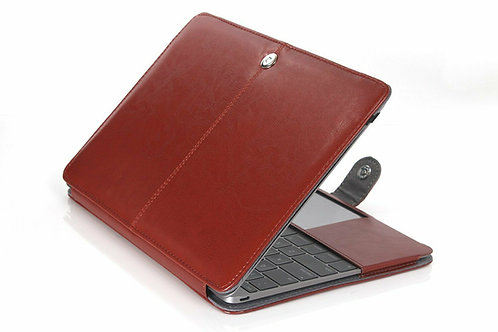 Premium Brown Leather Case Cover for Apple Macbook Pro 12'' A1534 RETINA Model