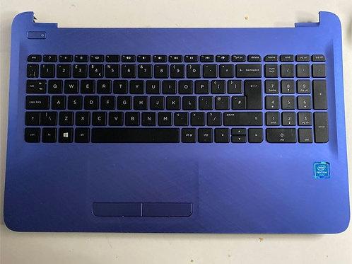 HP 15-AC / HP 15–AF Blue Palmrest Complete
