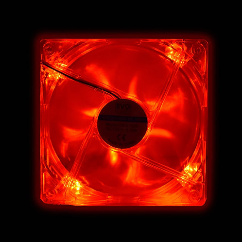 Evo Labs 120mm 1000RPM Red LED Fan