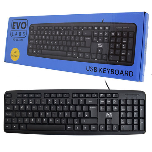 Evo Labs KD-101LUK USB Desktop Keyboard