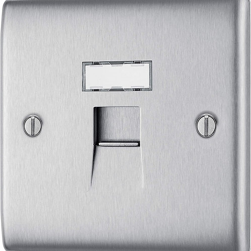 Electrical RJ45 Faceplate Brushed Steel