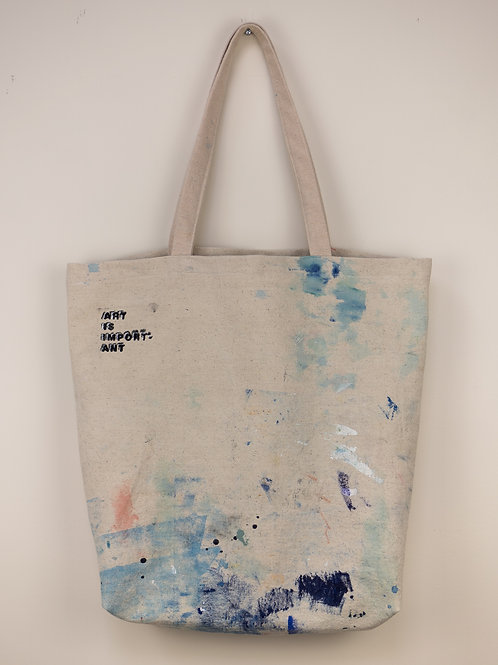 """Dropsheet Tote #16 - """"Giggle It Off And Get Back To Work"""""""