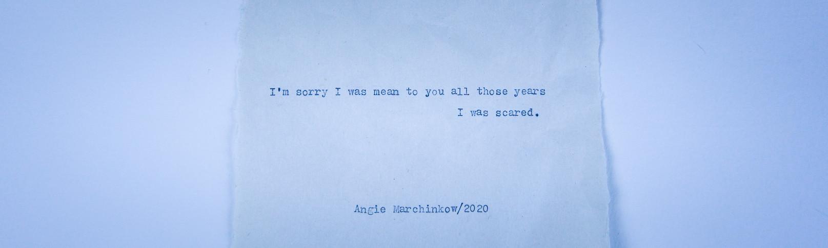 #25 - I'm sorry