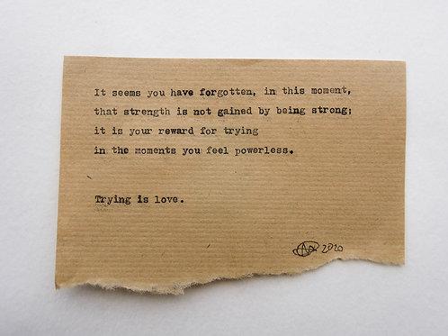 #6 -  Strength