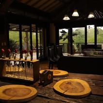 Comedor y sala interior