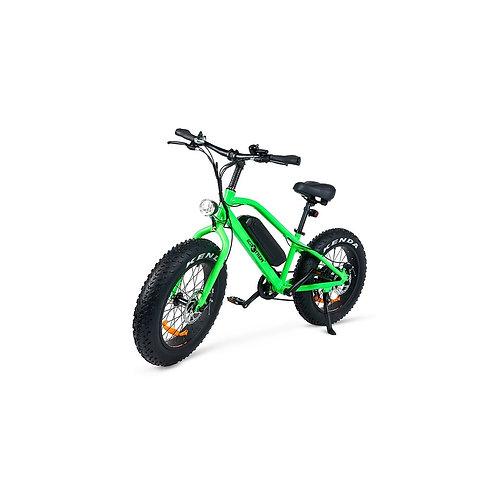 Bicicleta eléctrica con ruedas gruesas para terrenos irregulares