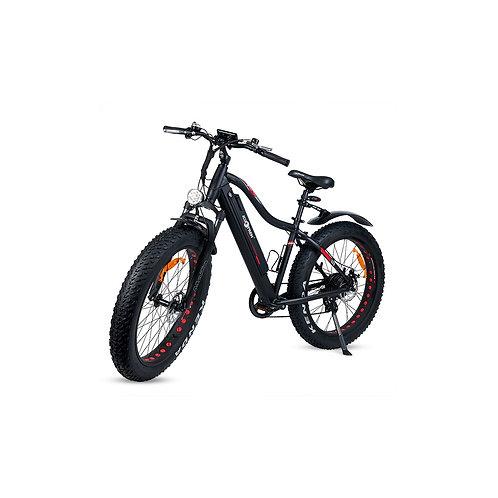 Bicicleta eléctrica XL con ruedas gruesas y guardabarros