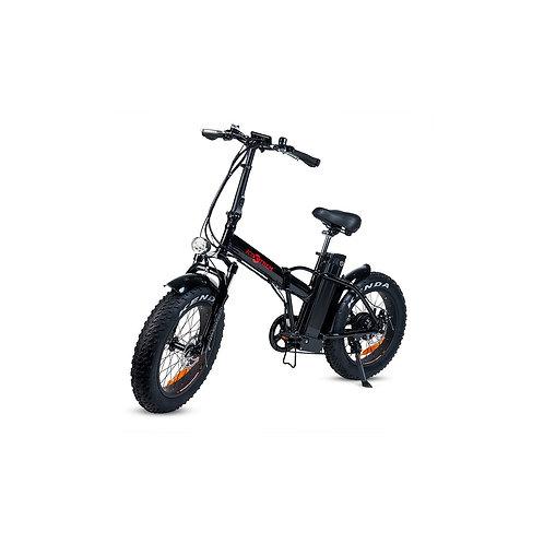 Bicicleta eléctrica con ruedas gruesas plegable