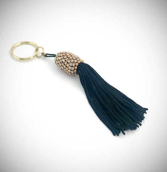 Elegant Black Tassel Keychain
