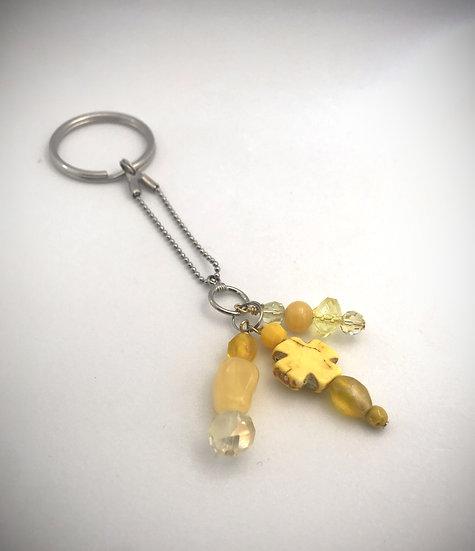 Yellow Sunshine Keychain