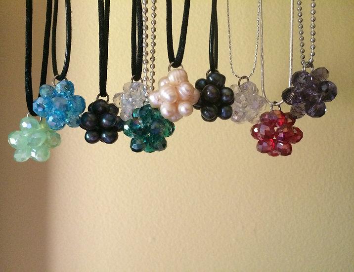 Pearl & Crystal Cluster Pendants