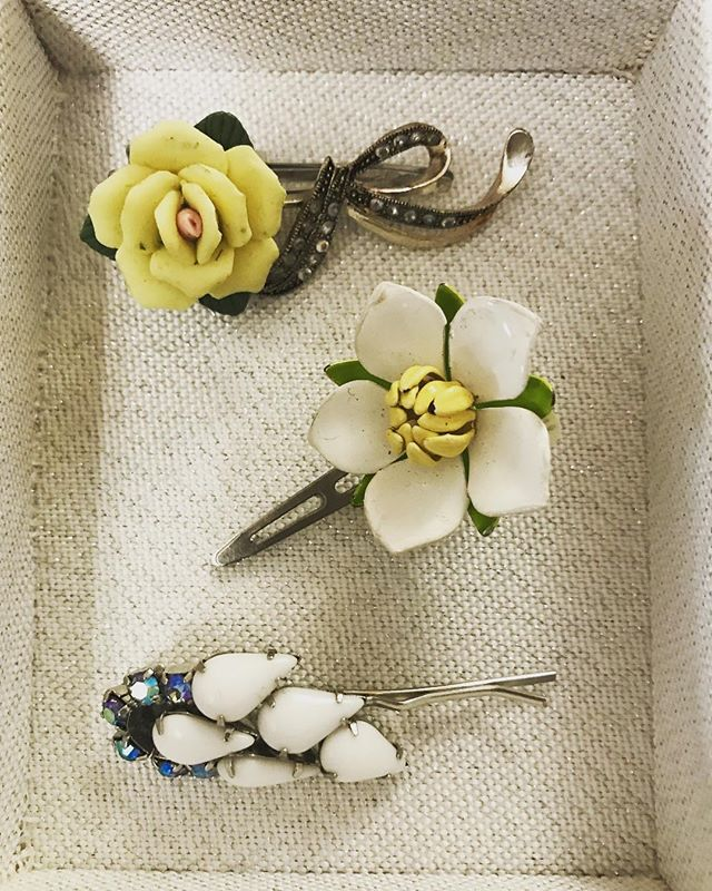 Vintage Designs For Spring ~ Hair Clips.