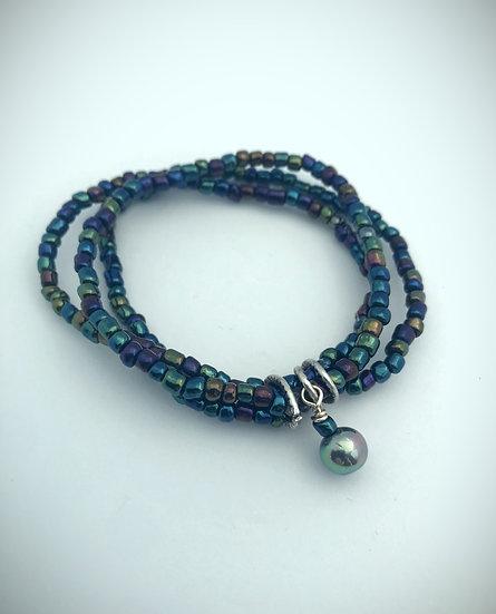 Seed Bead Three-Strand Bracelet