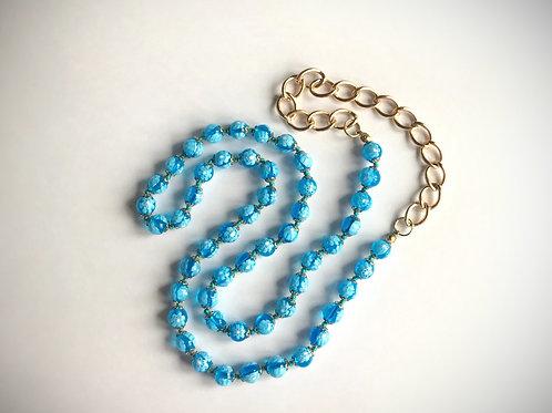 Millefiori Beaded Vintage Necklace