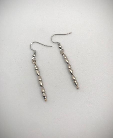 Silver Geo Earrings