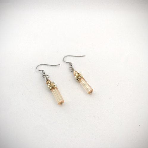 Gold Colored Tubular Earrings