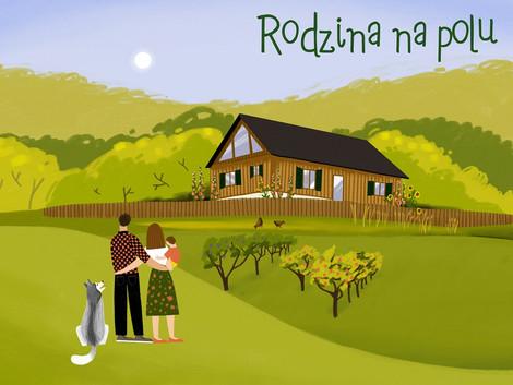 Rodzina na polu #ilustracja #animacja
