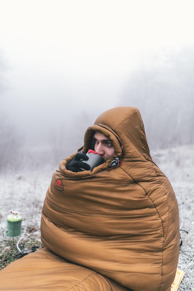 Robens Icefall sovepose vintersovepose robens kop vintercamping danmark Møn Camping