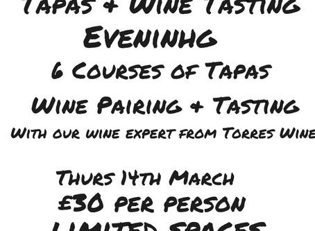 Tapas & Torres Wine