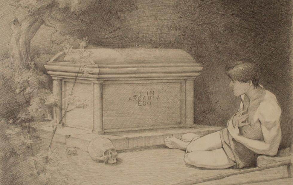 Et In Arcadia Ego Composition Sketch (Final Solution)