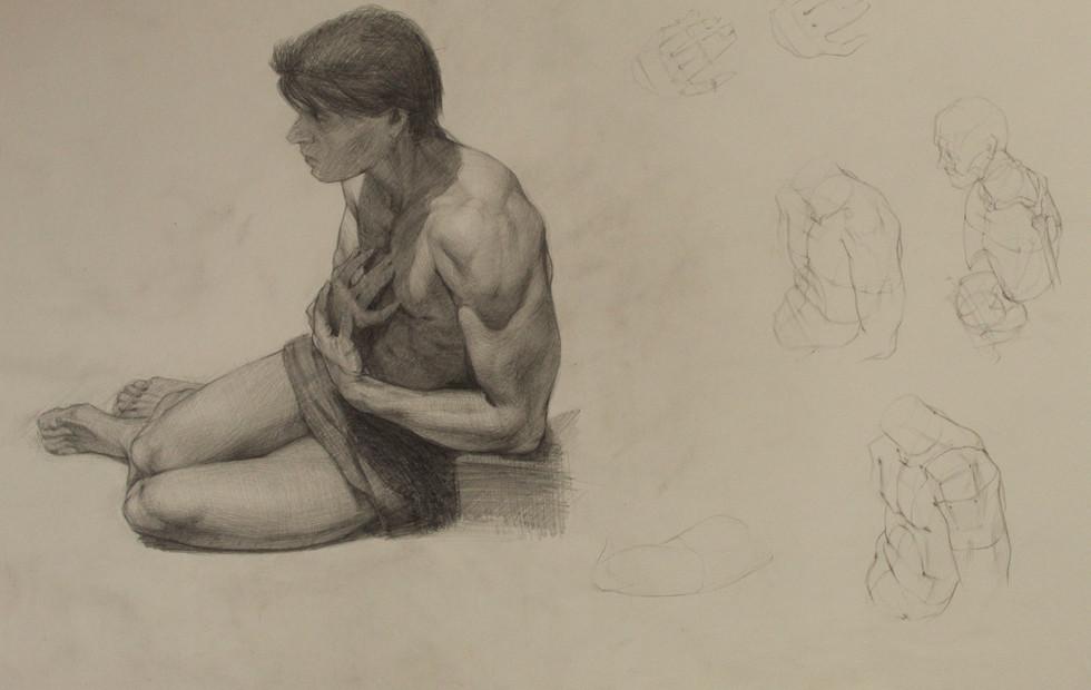 Et In Arcadia Ego Anatomy Study