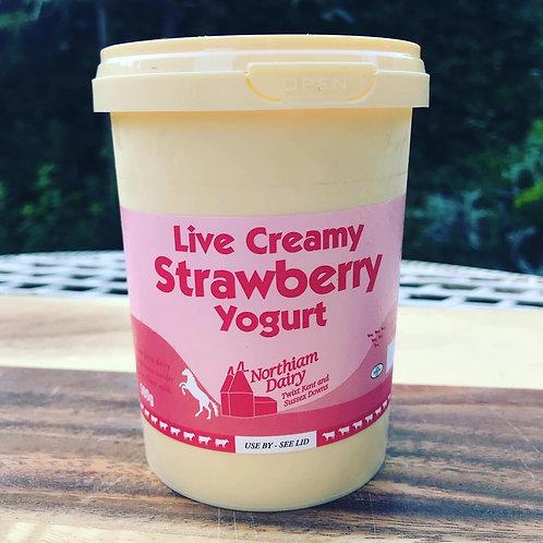Northiam Dairy Strawberry Yogurt 500ml