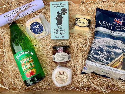 Kent & Sussex Cheese Gift with Biddenden Apple Juice