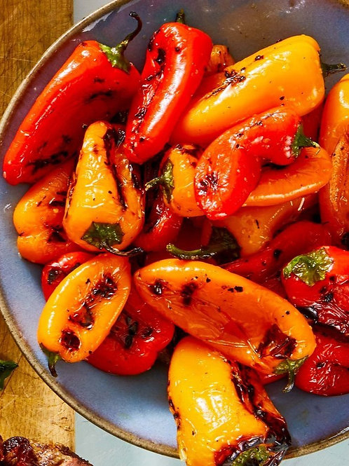 Grilled, Marinated Red & Yellow Peppers