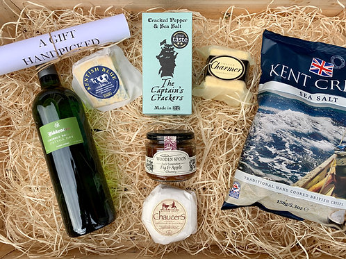 Kent & Sussex Cheese Gift with Biddenden White Wine