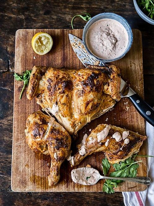 Greek Marinated Spatchcock Chicken