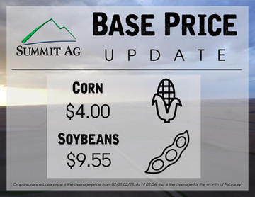 2019 Official Crop Insurance Base Prices