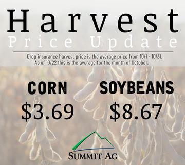 2018 Harvest Price Update - Day 20