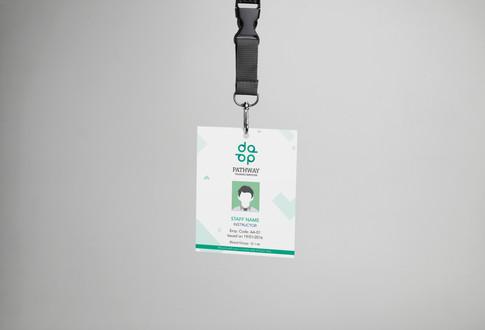 student consultancy branding id card design