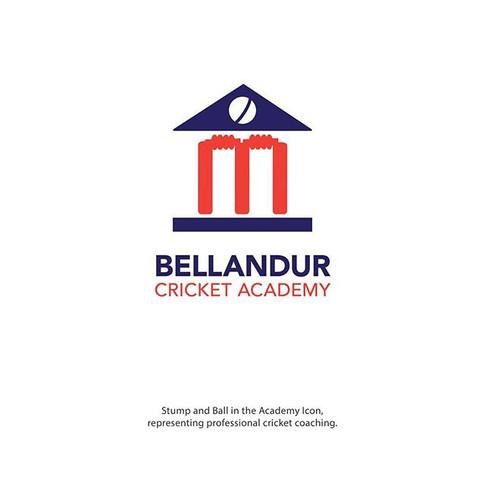 Bellandur Cricket Academy Logo Ideation by High Bridz