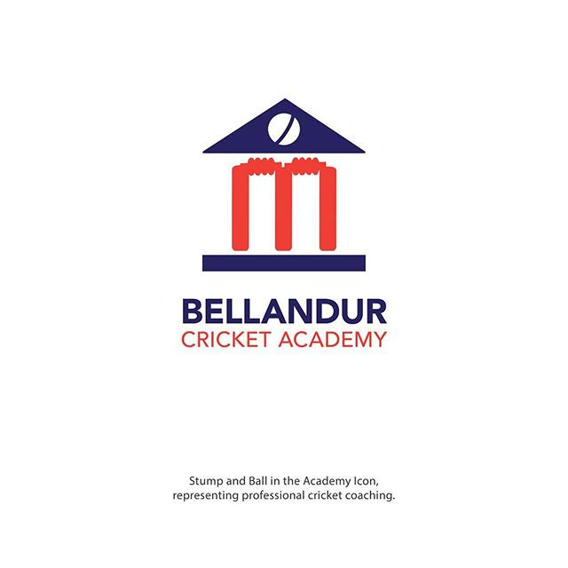Bellandur Cricket Academy Logo Ideation by High Bridz