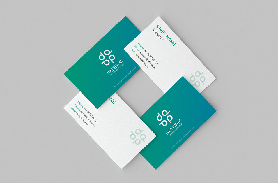 student consultancy branding Business Card Design