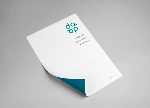 student consultancy branding letterhead