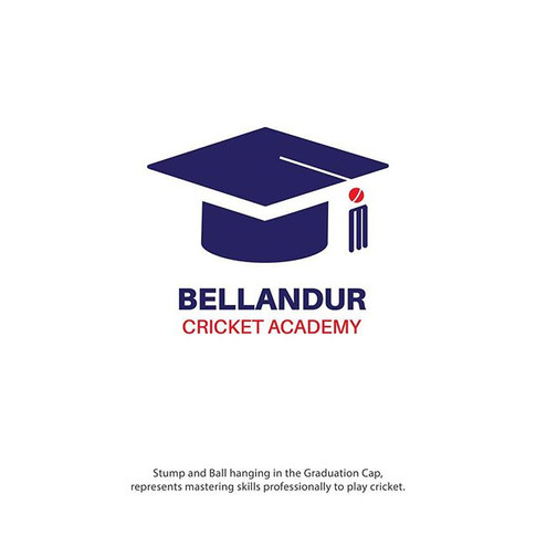 Bellandur Cricket Academy Logo Design Idea by High Bridz