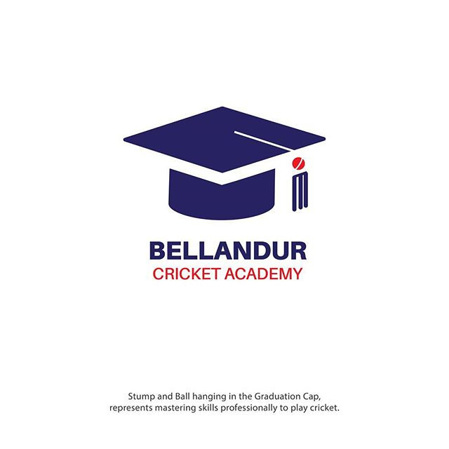Bellandur Cricket Academy Logo Design Idea by High Bridz