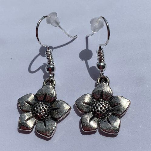 Five Petal Flower Earrings