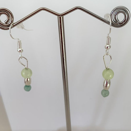 Aventurine & Grape Chalcedony earrings