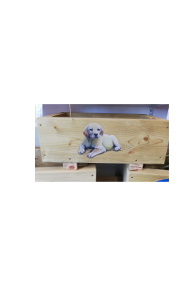 Wooden trough - Puppy