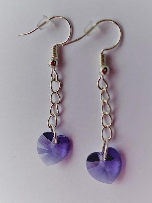 December earrings - Swarovski® - Tanzanite