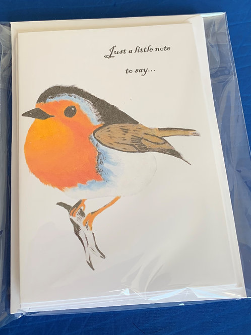 Notelets - Robin (pack of 5)