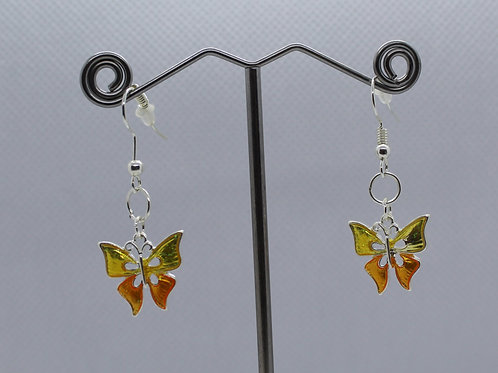 Orange /Yellow Butterfly Earrings