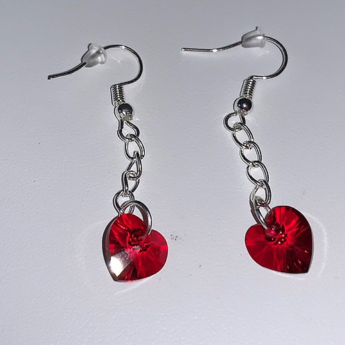 January earrings - Swarovski® - Siam (short)