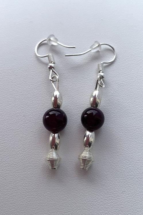 Purple Banded Agate earrings